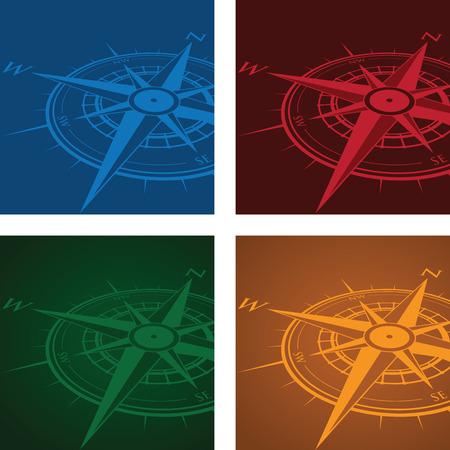 blue roses: compass background set