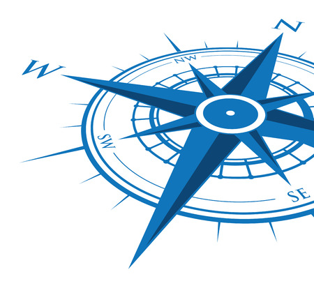 old compass: blue compass background Illustration