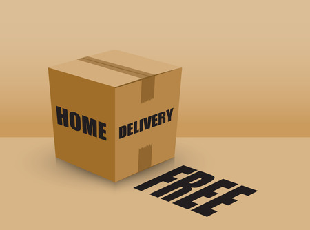tare: free home delivery card board box