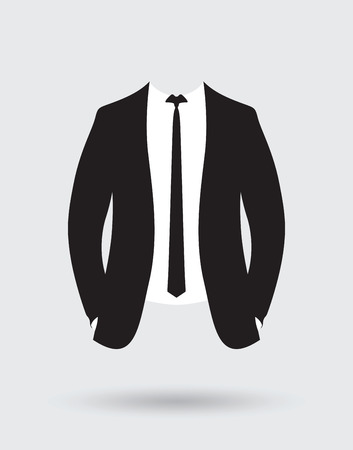 grooms suit jacket outfit Illustration