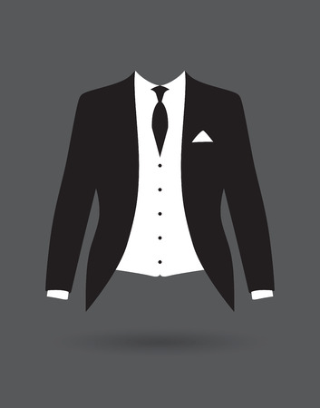 formal shirt: grooms suit jacket outfit Illustration