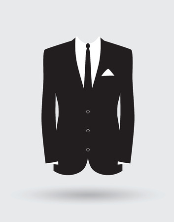 grooms suit jacket outfit Vettoriali