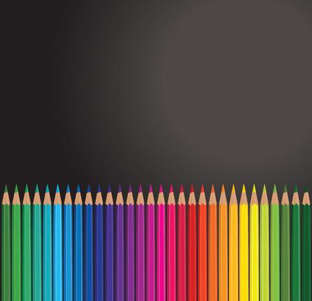 sharpen: pencil rainbow Illustration