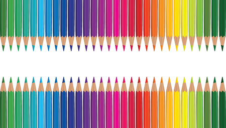 variegated: pencil rainbow Illustration