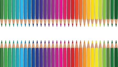Potlood regenboog