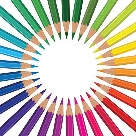 szivárvány: ceruza szivárvány