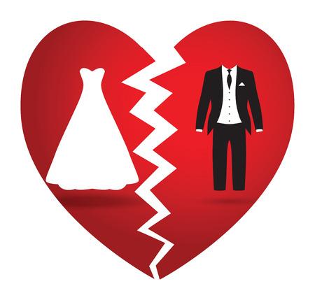 bride and groom break up
