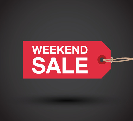 go to store: weekend sale sign
