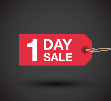 go to store: one day sale sign