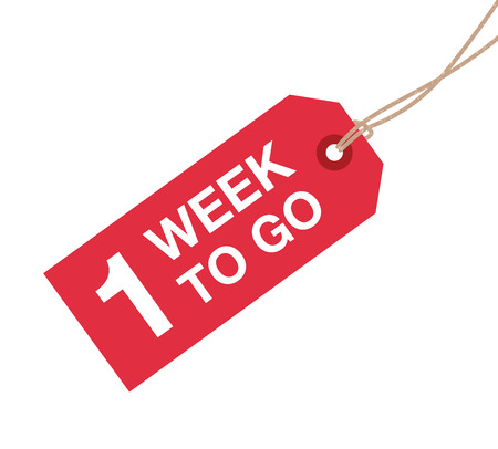 one week to go sign