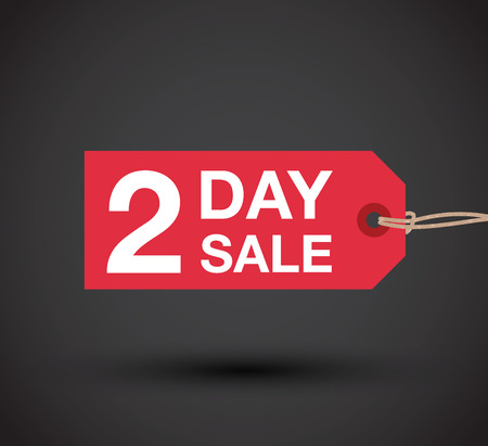 two: two day sale sign Illustration