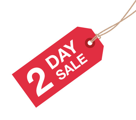 go to store: two day sale sign Illustration