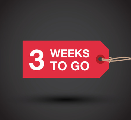 go to store: three weeks to go sign