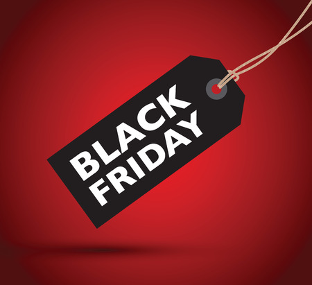 cheap: black friday sign Illustration