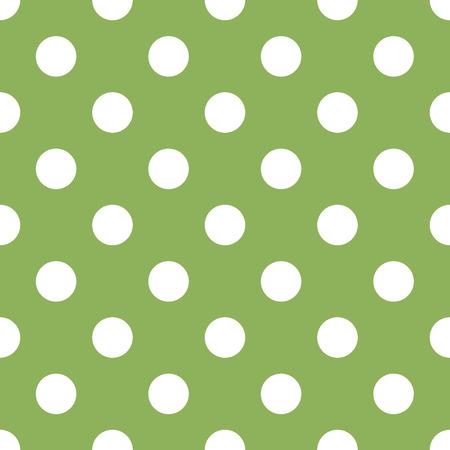 seamless green polka dot background