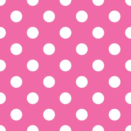 seamless pink polka dot background Illusztráció