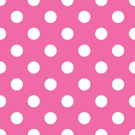 polka: seamless pink polka dot background Illustration