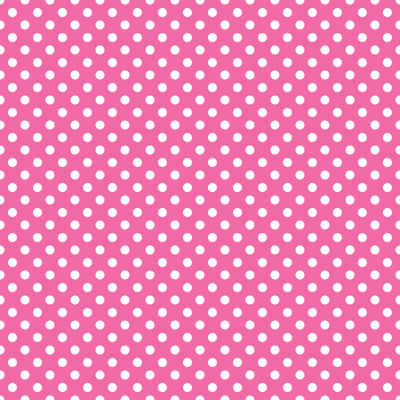 seamless pink polka dot background Stock Illustratie