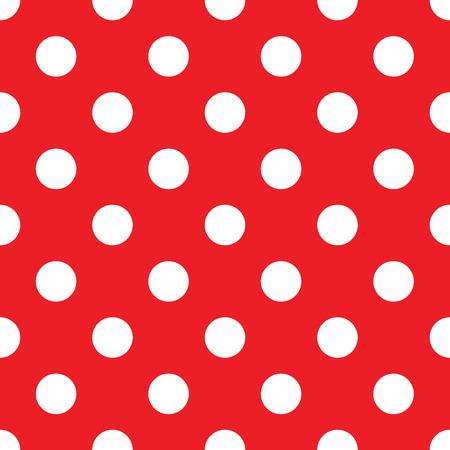 seamless red polka dot background