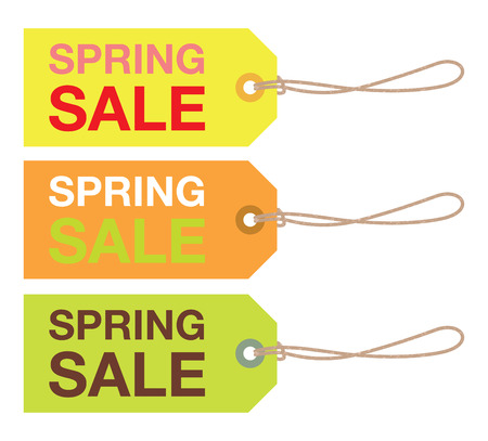 sale sign: spring sale sign set