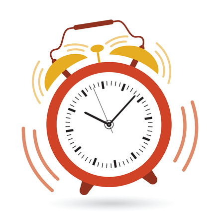 alarm clock going off Stock Illustratie