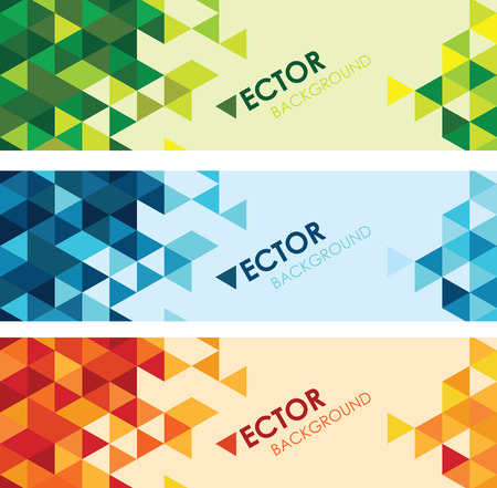 abstract colourful triangle background set