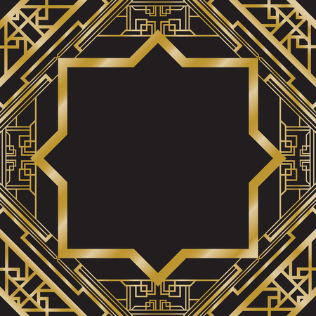 30s: art deco abstract background Illustration