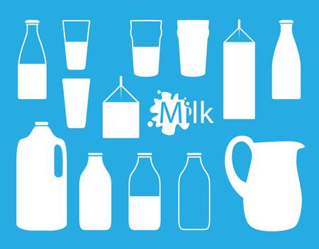 milk drop: milk icon idea  Illustration