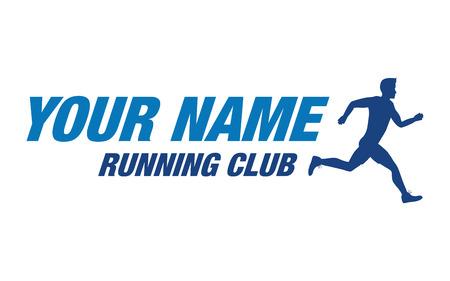 running race: running club man