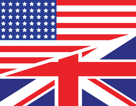 a joint background of the USA and UK flag Illustration