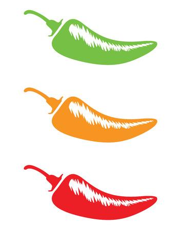 chilli silhouettes Vector