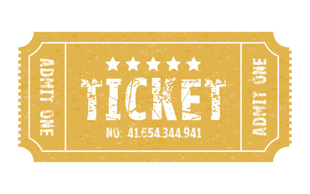 old movie: an admit one stub ticket