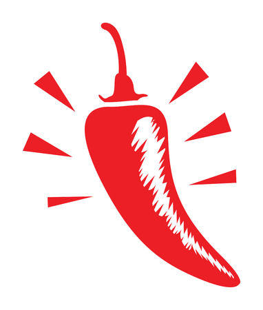 hot pepper: a red hot chilli