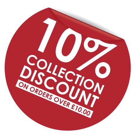 ten: peeling sticker ten percent off