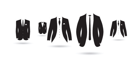 a set of black and white suits photo