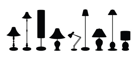 lampshade: lampshade set Stock Photo