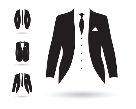a set of black and white suits 版權商用圖片 - 41179500