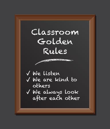 board: classroom rules chalk board