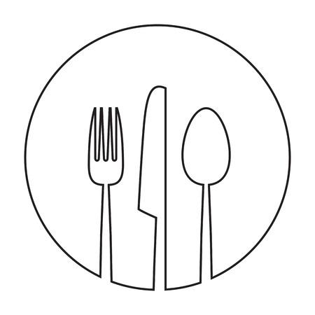 cuchillo de cocina: alimentos abstracta de fondo del menú Foto de archivo