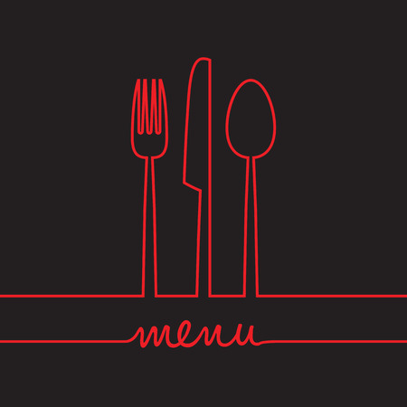 abstract food menu background
