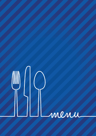 knife fork: abstract food menu background