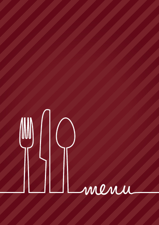 dinner menu: abstract food menu background