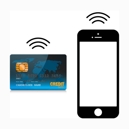 contactless: mobile payment Stock Photo