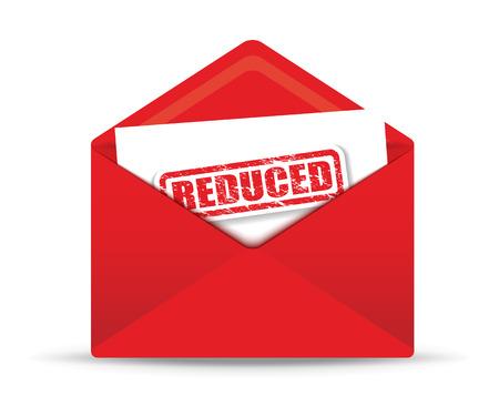correo electronico: reducida sobre blanco