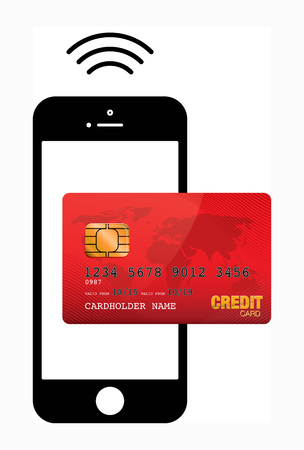 mobile payment: mobile payment Stock Photo