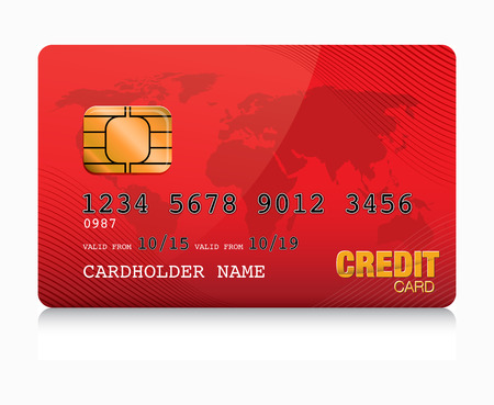 credit card payment: red  credit card