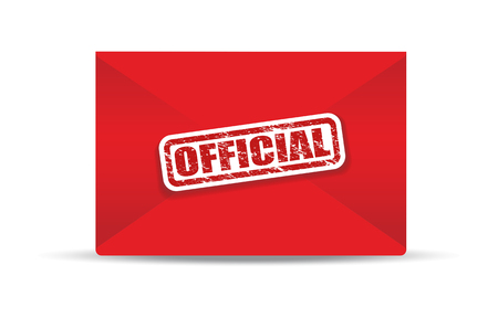 official: official red closed envelope