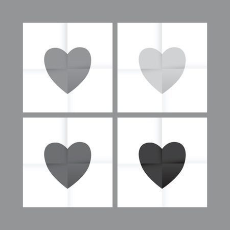 paper heart: love heart paper background