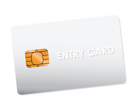 cardkey: white entry card Stock Photo
