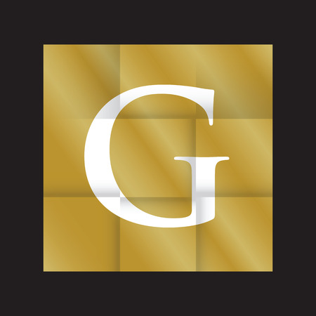 folded: gold paper folded background